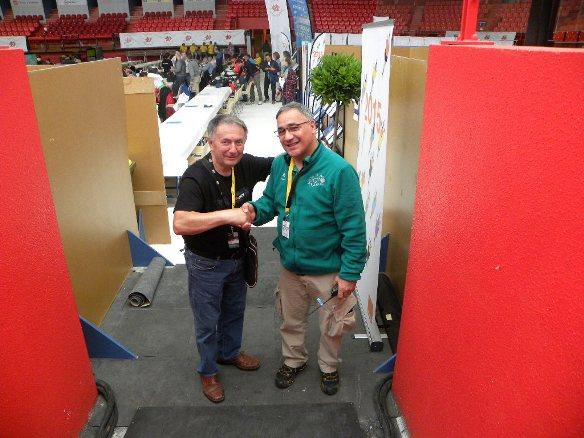 Bernardi con Oscar Chico (Foto Ferrari)