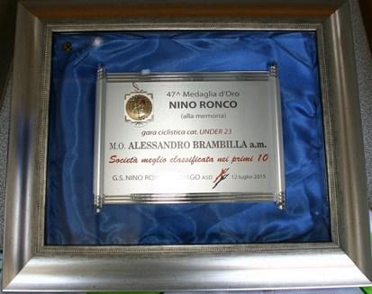 Medaglia d'oro Nino Ronco (Foto Berry)