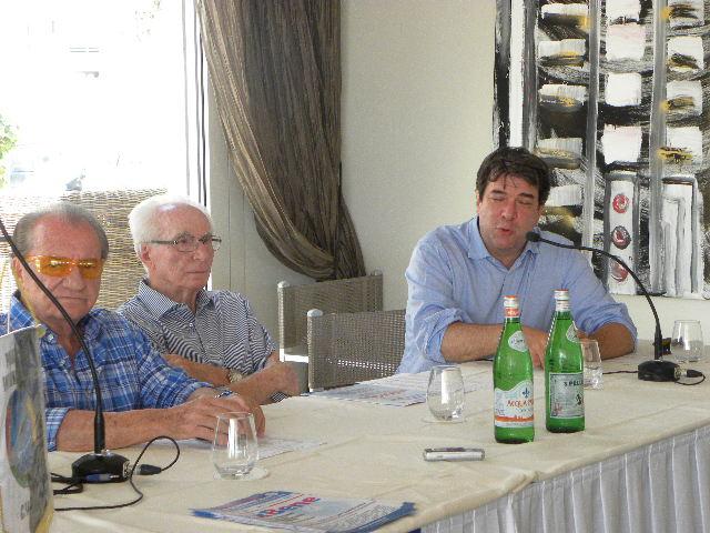 A dx Montanari Claudio Assessore Turismo di Riccione (Foto Nastasi)