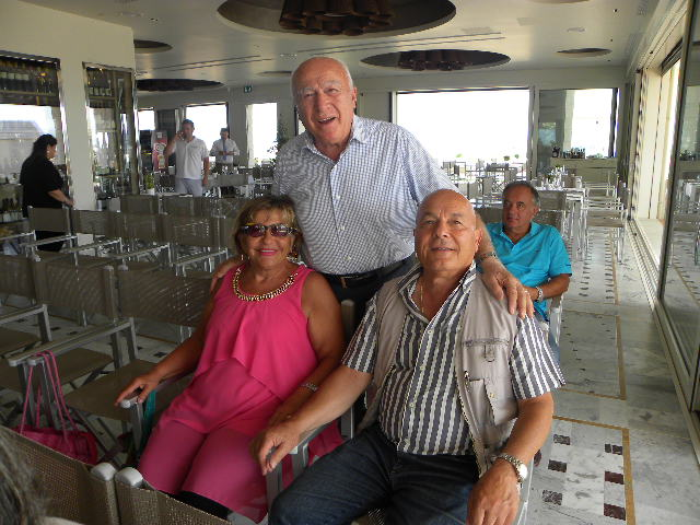 Pino Buda con i genitori di Marco Pantani (Foto Nastasi)