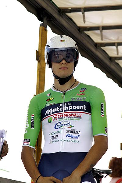Ganna Filippo pronto per il via (Foto Kia)