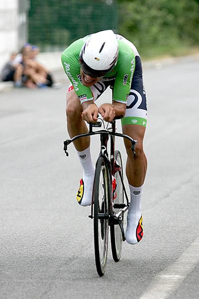 Filippo Ganna in azione (Foto Kia)