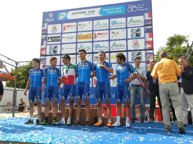 Nazionale U23 Italia sul podio (Foto Nastasi)
