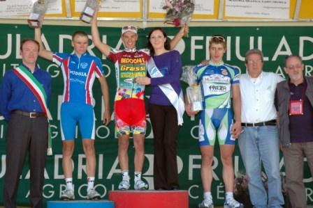 da sx Silin, Porte e Sagan, Podio Giro Friuli 2009