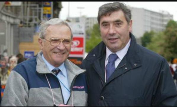 Giorgio Albani qui con Eddy Merckx