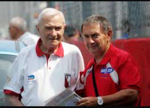 Albani Giorgio qui con Vito Bernardi a Monza