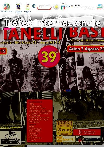 30.07.2015 – Atina (Zona Frosinone) – Domenica 02 agosto 2015, il 39° Trofeo Bastianelli