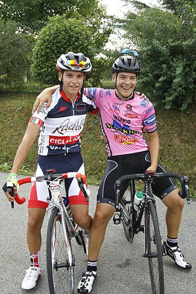 I primi due classificati da sx Stefano Rizza e Tomas Trainini (Foto Kia)