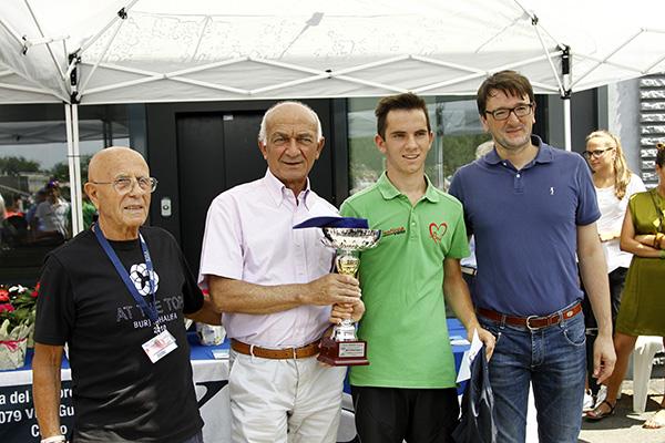 Premiazione Motta Alessandro 2^ classificato (Foto Kia)