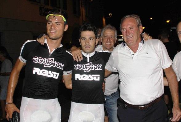 Da sx, Troia, Lamon e Beppe Colleoni (Foto Berry)