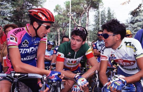 BUGNO INSIEME A FONDRIEST E CHIAPPUCCI-1995-PHOTO BETTINI