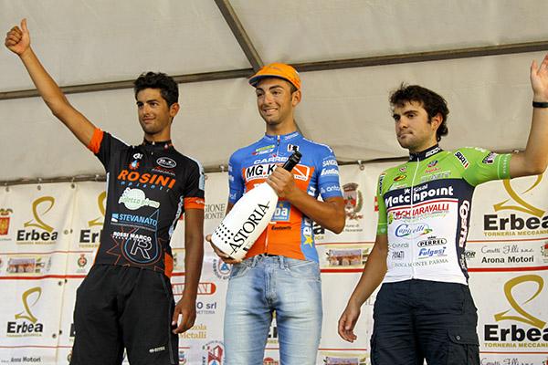 Da sx Ficara, Gazzara e Mosca, podio 32^ Trofeo Sportivi Briga (Foto Kia)