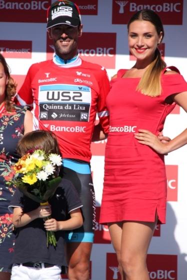 Delio Fernandez in maglia rossa di leader classifica a punti (Foto JC Faucher)