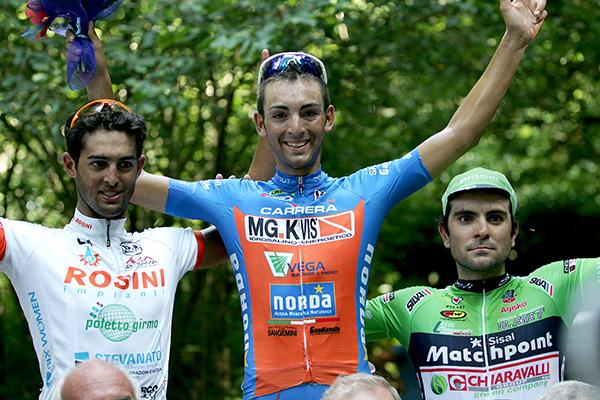 Gazzara sul podio con Ficara e Mosca (Foto Kia)