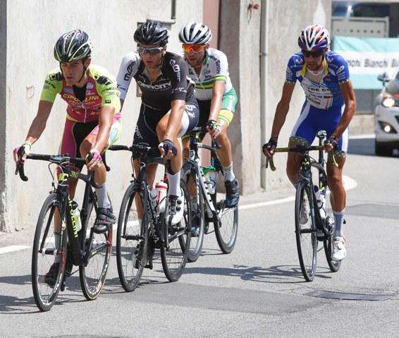 Borella, Viero, Carpenter e Raggio in fuga (Foto Pisoni)