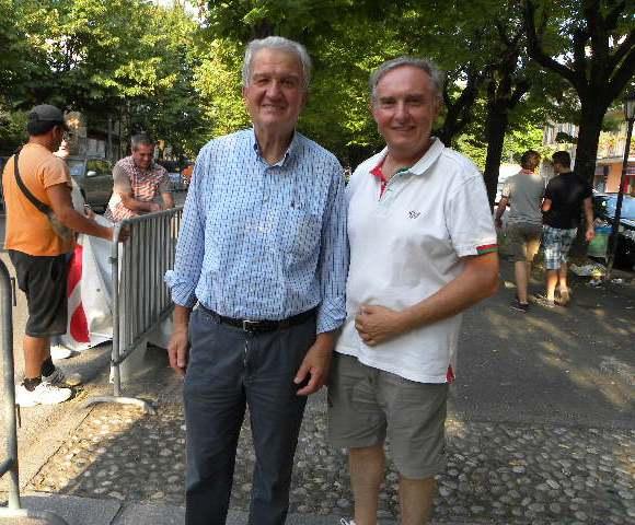 Da sx, Piero Angelo Cisi ex Sindaco di Alzano Scrivia e il Suo successore Adolfo Guagnini (Foto Nastasi)