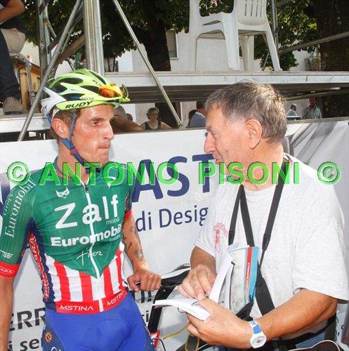 Marco Gaggia intervistato da Bernardi (Foto Pisoni)