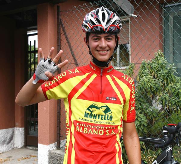 Yuri Brioni dice che sono 4 le sua vittorie stagionali (Foto Berry)