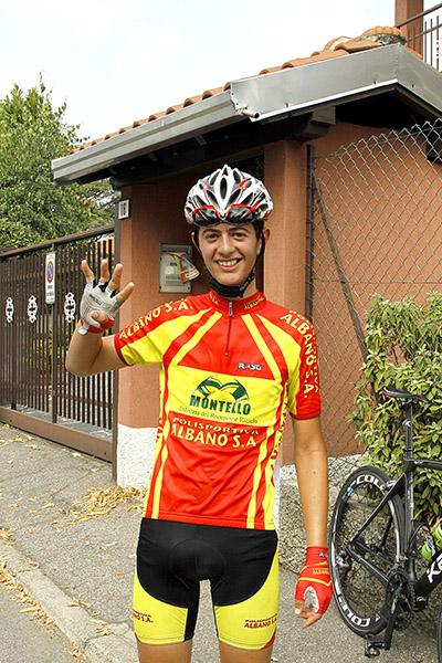 Yuri Brioni indica 4 come le sue vittorie stagionali (Foto Kia)
