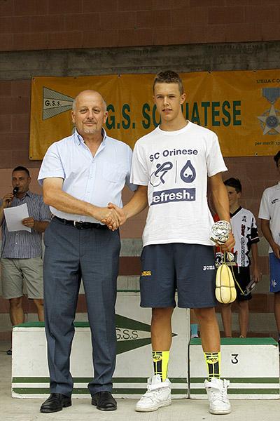 Premiazione Arioli (Foto Kia)
