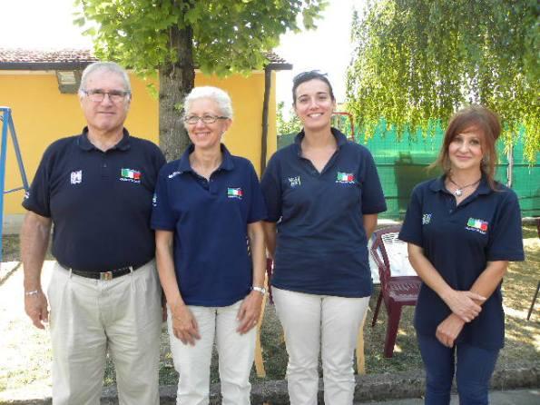 Giuria FCI, da sz De Antoni, Merelli, Galuppini e Zicchetti (Foto Nastasi)