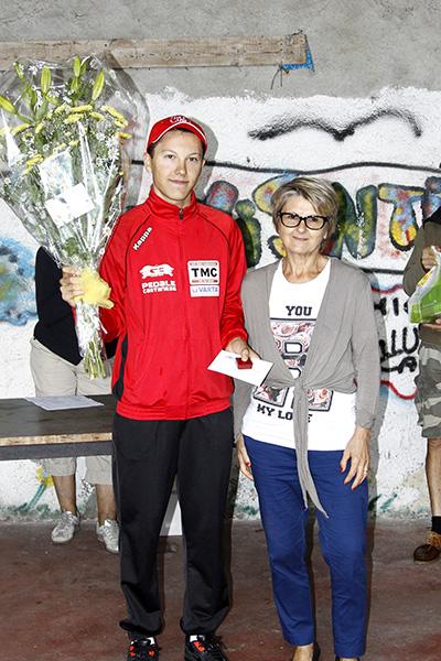 Premiazione del vincitore Alessio Ferrari (Foto Kia)
