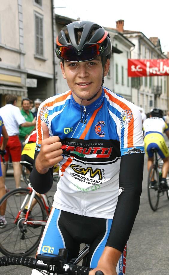 Luca Gennari e la sua prima vittoria a Soncino (Foto Berry)