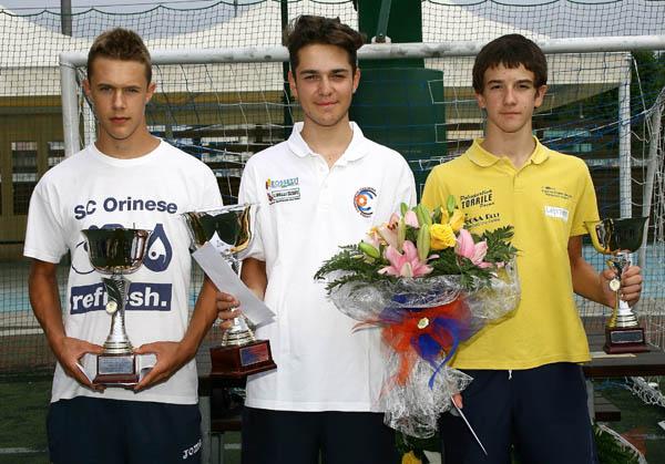 da sx, Arioli, Gennari e Pinazzi, podio 2^ anno a Soncino (Foto Berry)