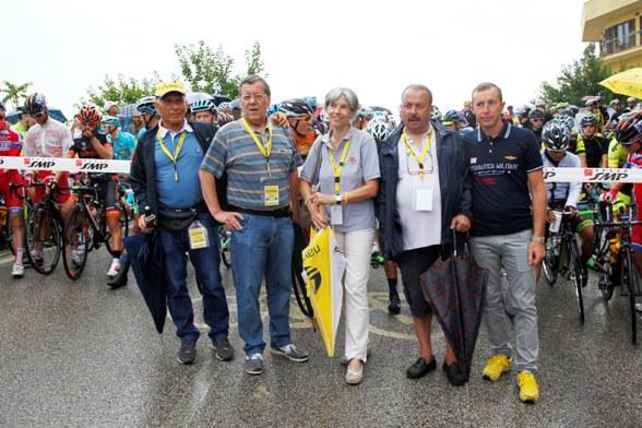 Da sx, GCarlo Raggi, Bruno Achilli, Marina Zancan, Cav Zama e Ivan Cecchini (Foto Soncini)
