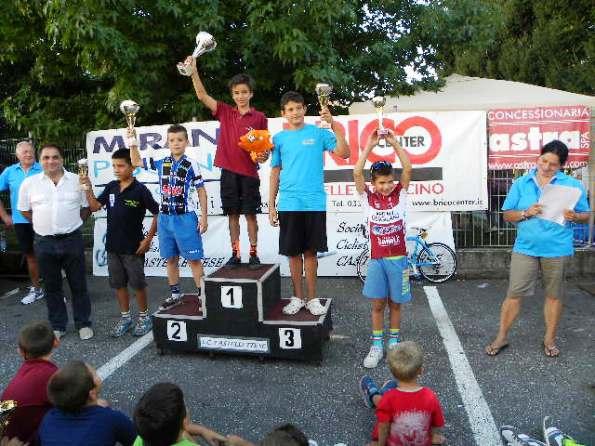 Podio G4 col vincitore Edoardo Rubino (Foto Nastasi)
