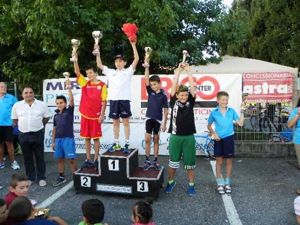 Podio G5 col vincitore Roberto Sesana (Foto Nastasi)