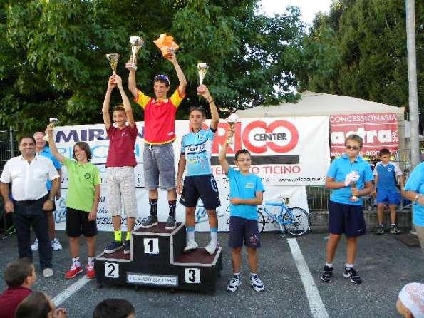 Podio G6 col vincitore Manuel Oioli (Foto Nastasi)
