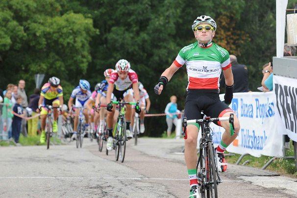 ESORDIENTI 1 anno  -   2° Trofeo VolksBank 2° Memorial Paolo Graiff  all'arrivo il vincitore Martignago Luca