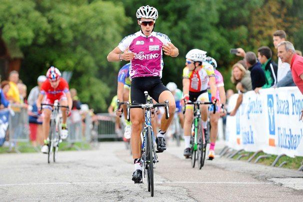 ESORDIENTI 2 anno - 2° Trofeo VolksBank 2° Memorial Paolo Graiff all'arrivo il vincitore Zambanini Edoardo