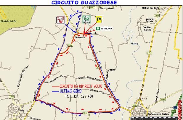 Planimetria del 98^ Circuito Guazzorese-Coppa Guido Autelli (cyclo@system)