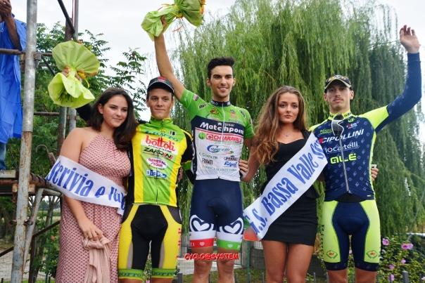da sx Lonardi, Pacioni e Fedrigo - Podio di Guazzora (cyclo@system)