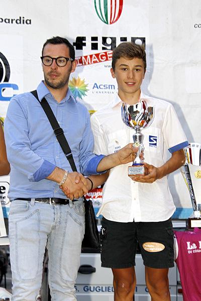 Premiazione di Bagioli 2^ classificato (Foto Kia)