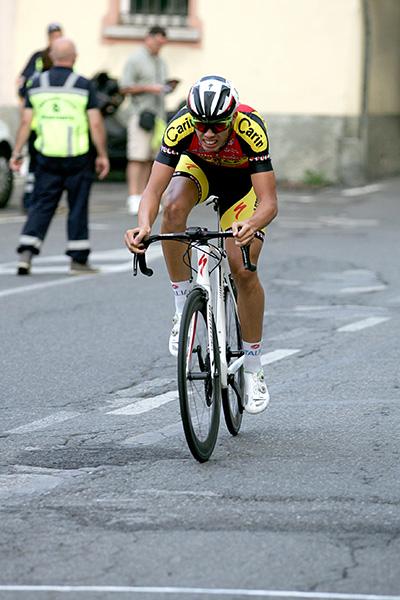 Michele Gazzoli vincitore del cronoprologo (Foto Kia)