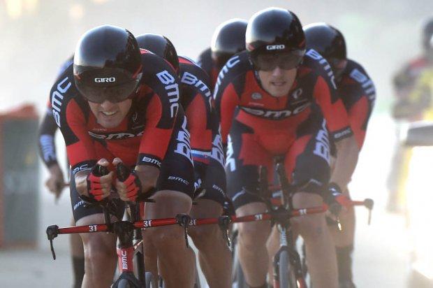 BMC in azione alla Vuelta (Foto da lavuelta.com)