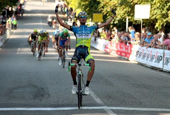 23/08/14 - Rovescala (Pv) - 63 Gp Colli Rovescalesi - Elite-Under 23 - Km 156 nella foto: Mirko Trosino (Mastromarco) vince a Rovescala © Riccardo Scanferla
