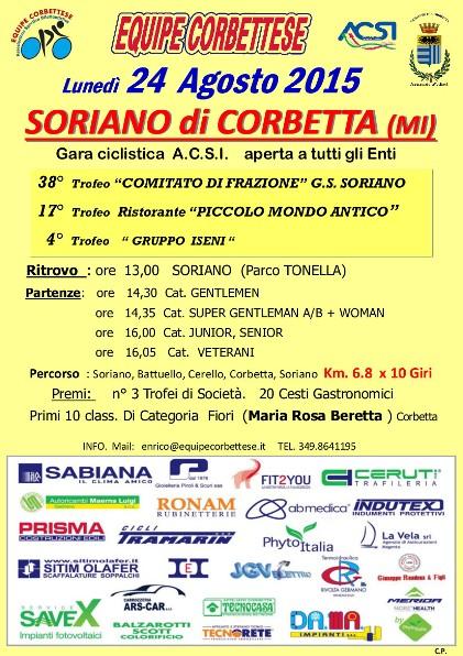 24.08.15 - Gara di Soriano lunedi 24.08.15
