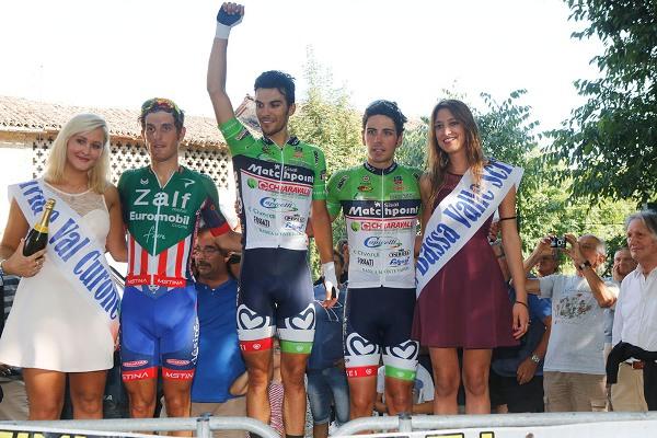 Pacioni esulta sul podio di Castelnuovo Scrivia (Foto Pisoni)