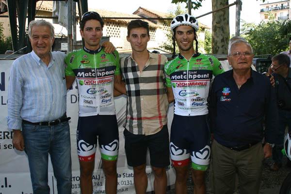 Nicolo^ Bonifazio con Pacioni, Perego, Cisi e Pirro (Foto Berry)