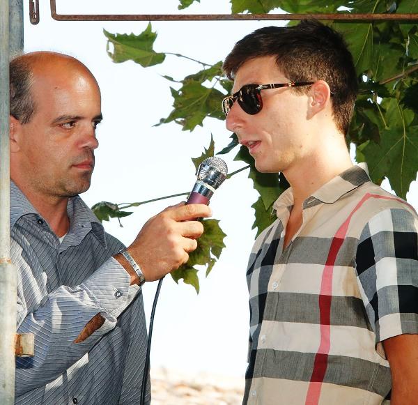 Nicolo^ Bonifazio intervistato da Pizzocri (Foto Pisoni)