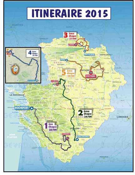 Planimetria del Tour Poitou Charentes