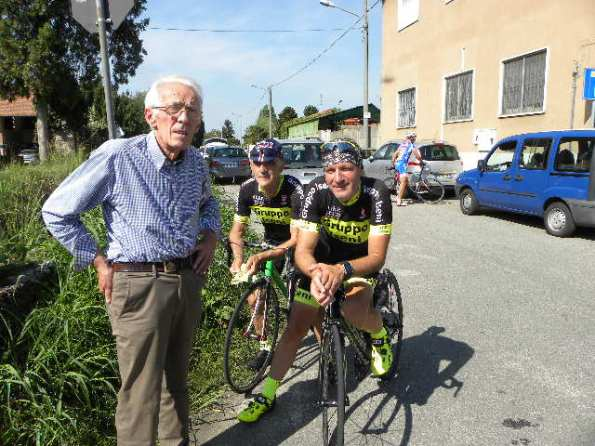 Aldo Colombo con Dr. Iseni e l'ex Mario Lanzafame (Foto Nastasi)