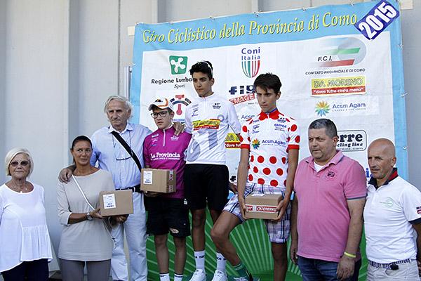 Le tre maglie sul podio con lo Sponsor Aldegheri (Foto Kia)