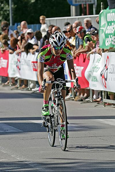 L'arrivo di Nicolò Madini 3^ classificato (Foto Kia)