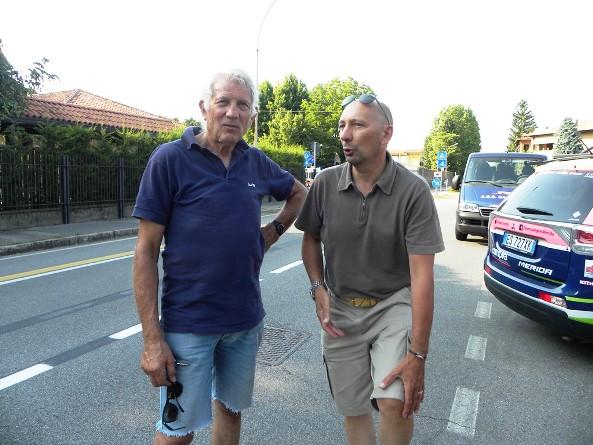 A sx Sandro Cogliati con Piovani DS Lampre-Merida (Foto Nastasi)