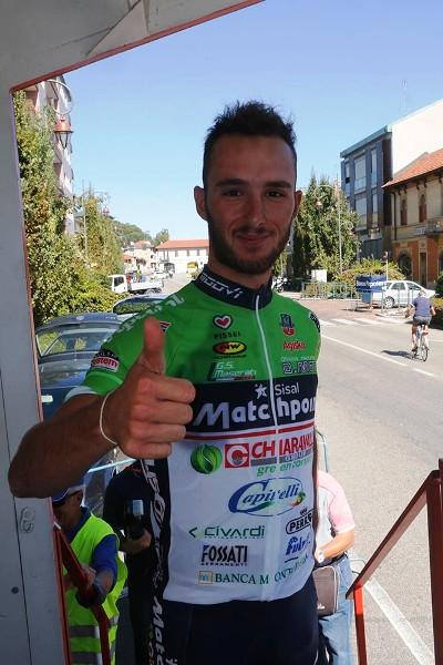 Leonardo Bonifazio alla sua prima vittoria (Foto di Antonio Pisoni)
